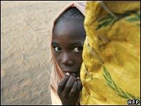 Sudanese refugee girl