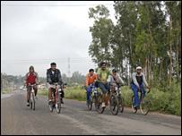 Cyclists in Bangalore