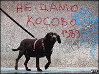 Граффити 'Не отдадим Косово. 1389 год' в Белграде