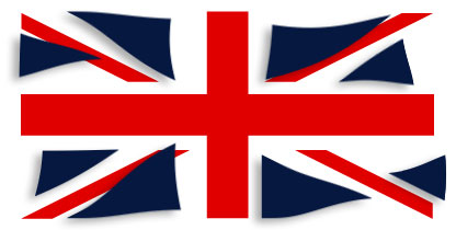 Graphic of Union flag with blue parts loosened