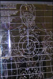 Target used in Taser training