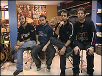 The members of the band in Istanbul, Turkey