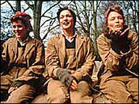 Anna Friel, Rachel Weisz and Catherine McCormack in 1998's The Land Girls