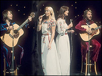 Abba performing Fernando on Top of the Pops in 1976