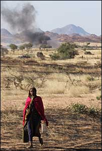 A woman villager in eastern Chad