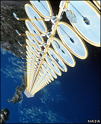 Artist's impression of a 'sun tower' (Image: Nasa)