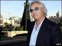 Renault team principal Flavio Briatore attended the hearing in Monaco
