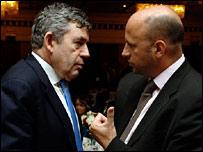 Gordon Brown and Jon Mendelsohn