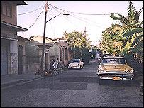 Calle en Santiago de Cuba