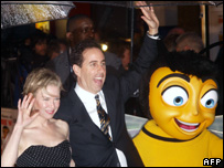 Bee Movie voice stars Renee Zellweger and Jerry Seinfeld