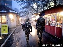 KFOR troops in Mitrovica