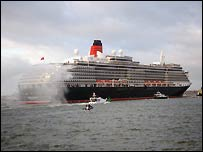 Queen Victoria arriving in Southampton