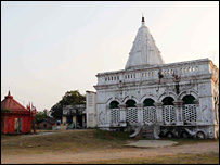 The temple site at Dhanbad