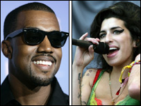 Kanye West and Amy Winehouse