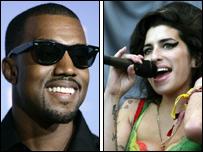 Kanye West and Amy Winehouse