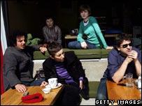 Kosovan students in Pristina