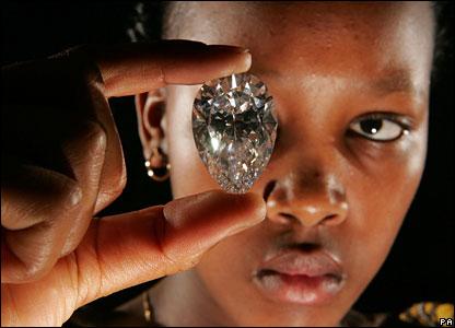 Diamant, který byl vykopán v lesothu