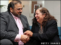 Lord Ahmed and Gillian Gibbons
