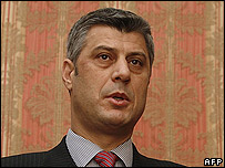 Kosovo Albanian leader Hashim Thaci