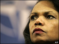 Condoleezza Rice Israel warning