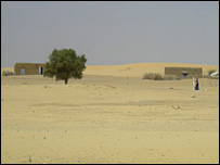 The desert around Timbuktu