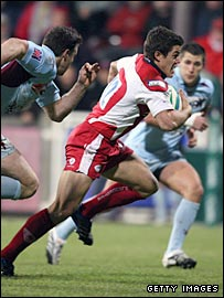 Anthony Allen scores the opening try for Gloucester on Friday