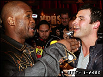 Bernard Hopkins and Joe Calzaghe came face-to-face in Las Vegas last year
