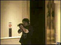 CCTV footage showing Robert Hawkins aiming his gun