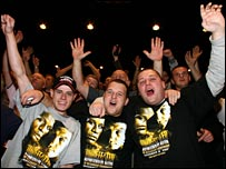 Hatton fans at the weigh-in