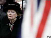 Baroness Thatcher at Cenotaph