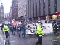 Climate march in Glasgow