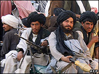 Taleban fighters in Musa Qala, 6 November 2007