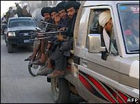 Taleban fighters in Musa Qala - 6/12/2007