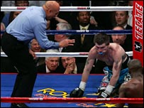 Hatton was knocked out in the 10th round