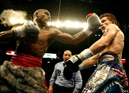 Floyd Mayweather and Ricky Hatton