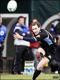 Dan Parks was in fine kicking form for Glasgow