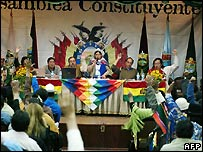 Bolivia's constituent assembly - 8/12/2007
