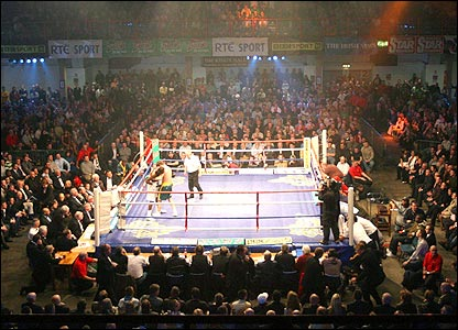 The King's Hall in Belfast was the venue for the big fight