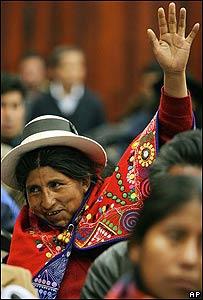 Asambleísta en Bolivia