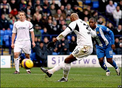 Nicolas Anelka misses a penalty