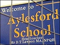 Aylesford School sign