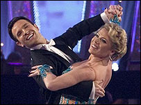 Letitia Dean and Darren Bennett in Strictly Come Dancing