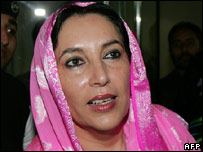 Pakistani opposition figure Benazir Bhutto