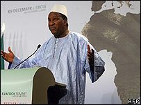 President of the African Union Commission, Alpha Oumar Konare