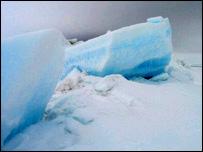 Arctic ice (BBC)