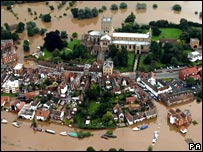 Flooding in Tewkesbury, July 2007