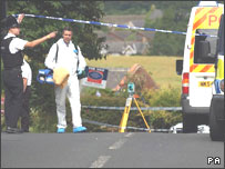 Scene of Stocksfield shooting