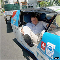 Unep chief Achin Steiner in car. Image: AFP/Getty