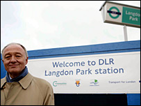 The mayor at Langdon Park station
