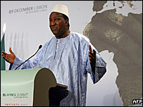 African Union Commission's chairman Alpha Oumar Konare